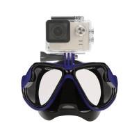 PLG RH351 Diving Mask Gopro Hero 5/4/3+/3/2/1 (Dark Blue)
