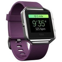 Fitbit Blaze Smart Fitness Watch (Plum) (Large: 17.0 cm–20.6 cm]