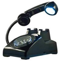 I-Classic Phone Alarm Clock & Lamp (Black)