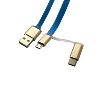 PRS RH373 2-In-1 Type C&Micro Cable 1m (Blue)