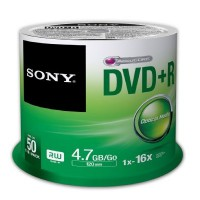 Sony 50 Pack DVD+R Recordable Spindle