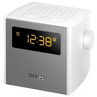 Philips Clock Radio FM, Digital tuning Dual alarm Time & alarm backup (AJ4300W)