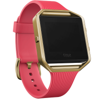 Fitbit Blaze (Special Edition) Smart Fitness Watch Large 16.5cm - 20.6cm Slim Pink/Gold