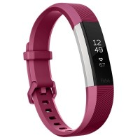 Fitbit Alta HR Fitness Wristband (Fuchsia/Stainless Steel) [Small: 14.0 cm–17.0 cm]
