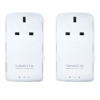 Sineoji PL1800EP Gigabit Homeplug Twin Pack