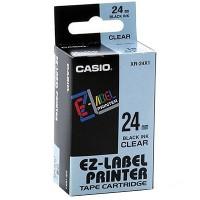 Casio XR-24X Tape (Black on Transparent)