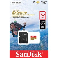 SanDisk Extreme Micro SDHC Card with Adapter V30 A1 [32GB]