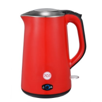 707 1-KE151-RD Double layer Stainless Steel Electric Kettle (Red)