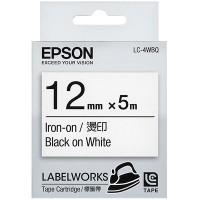 Epson Black on White Iron-On Label Tape 12mm x 5m (LC-4WBQ)