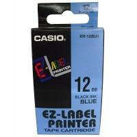 Casio XR-12BU Tape (Black on Blue)