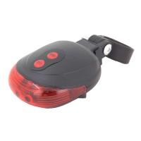 PLG H-005 LED Bicycle Taillight w Laser Egg Shape (Red)