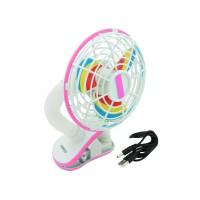 PLG F1288 Mini USB Fan With Clip (Pink)