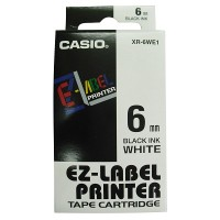 Casio XR-6WE Tape Cartridge (Black on White)