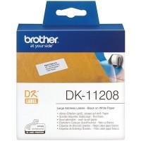Brother Black on White Large Address Labels 38mm x 90mm (DK-11208)