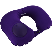 ValueClub Inflatable Travel Neck Pillow (Purple)