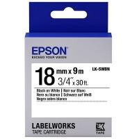 Epson Black on White Tape 18mm x 9m (LK-5WBN)