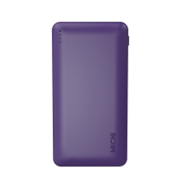 Michi Qualcomm 12000mAh 3.0 Slim Powerbank (Purple)