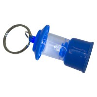 PRS Key Ring With Light -Small Hurricane Lamp (Blue)