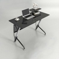 Inkagu CT3352-1 Gaming/PC Table Tempered Glass 1.2Meter (Black)