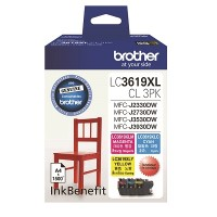 Brother LC3619CL3PK Ink for J3930 - 1500 pages (3 Colour Pack)
