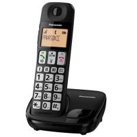 Panasonic KX-TGE110CXB Dect with Big Button & Large Character (Black)