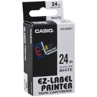 Casio XR-24WE Tape (Black on White)