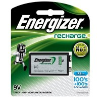 Energizer 9V 175mAh Rechargeable Battery (1pc)
