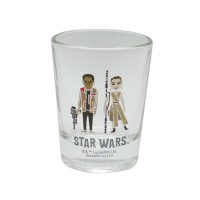 Star Wars Mini Glass Tumbler Finn & Rey