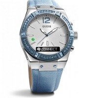 Guess C0002M5 Connect Ladies Watch 41mm (Silver & Sky Blue)