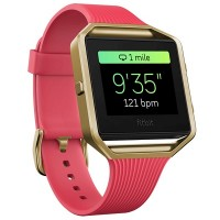 Fitbit Blaze (Special Edition) Smart Fitness Watch Small 14cm - 17cm Slim Pink/Gold