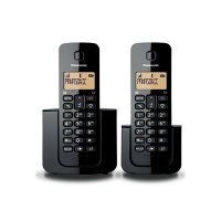 Panasonic KX-TGB112CXB DECT Cordless Phone Handset (Black, Twin)
