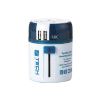 TravelBlue 272 2 USB Sliding Adaptor World Wide