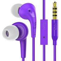 iLuv Bubble Gum3 Earphones + Mic (Purple)