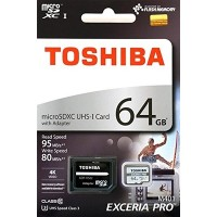 Toshiba Exceria Pro MicroSD 64GB (UHS-1)