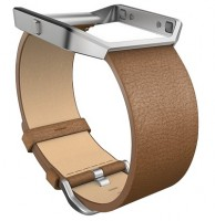 fitbit blaze LUXE Accessory Band (Camel Leather) Size S