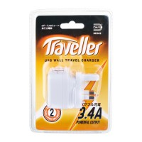 Daiyo DE302 3.4A 2 USB Wall Charger Travel Adapter