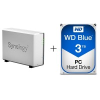 Synology DiskStation DS115j with WD Blue 3TB HDD