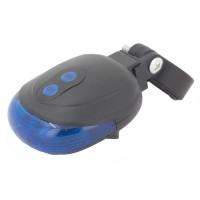 PLG H-005 LED Bicycle Taillight w Laser Egg Shape (Blue)