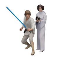 Kotobukiya KTSW89 Star Wars Luke Skywalker & Leia ArtFX+ Statue