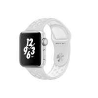 Apple Watch Series 2 Nike+ 38mm Silver Aluminium Case with Flat Silver/White Nike Sport Band