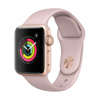 Apple Watch Series 3 GPS 38mm (Gold Aluminium Case with Pink Sand Sport Band)