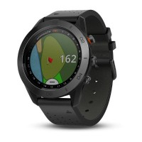 Garmin Approach S60 with Leather Band Premium Golf Watch (Black)
