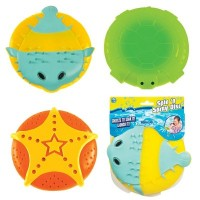 Spin N Spray Disc Assorted [Pack of 3 - Turtle, Fish, Starfish]