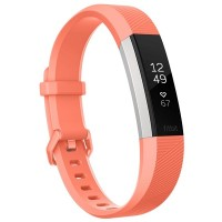 Fitbit Alta HR Fitness Wristband (Coral/Stainless Steel) [Small: 14.0 cm–17.0 cm]