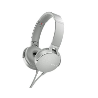 Sony MDR-XB550AP Headphones + Mic (White)