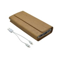 BOS HOCO P4-4800mAh Wallet Power Bank (Light Brown)