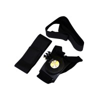 PRS RH016 360 Rotatable Multifunctional Strap For GoPro Camera (Black)