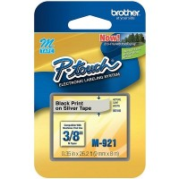 Brother Ptouch Black on Silver Tape 9mm x 8m (M-921)
