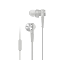 Sony MDR-XB55AP Earphones with Mic (White)