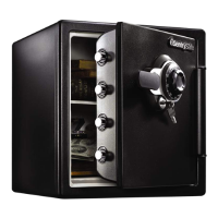SentrySafe SFW123DTB Fire & Water Resistant Combination Safe